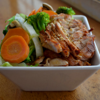 Teriyaki Chicken Over Steamed Vegies